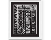 """African Mudcloth Art Print 
