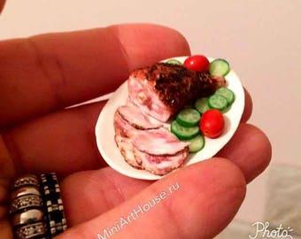 1:12 scale dollhouse miniature ham