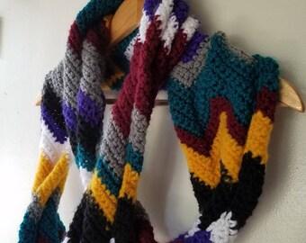 Chevron Crochet Infinity Scarf *** free shipping ***