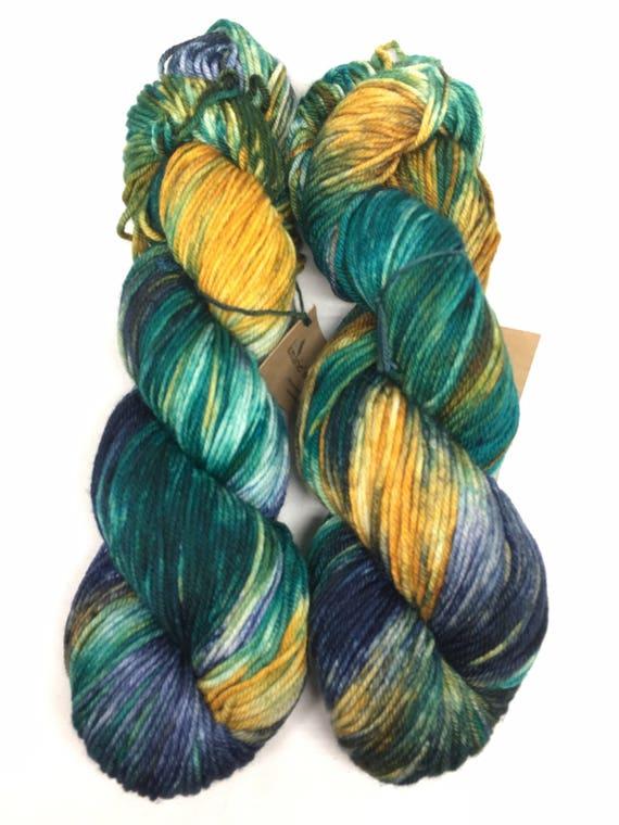 Hand Dyed DK Yarn_Denali_Brazos DK Base