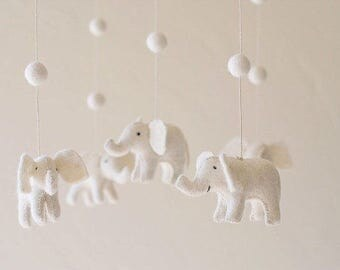 baby mobile - nursery decor- elephant mobile MADE TO ORDER