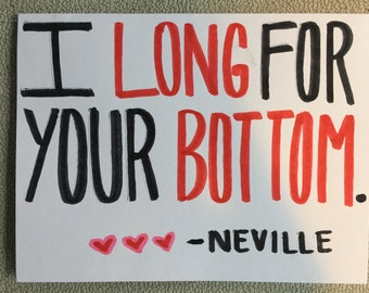 Neville Longbottom Card