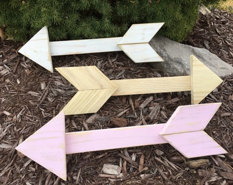 Handcrafted Small Rustic Wooden Arrow Wall Decor