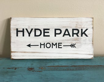 Rustic State/City/Town/Hometown HOME Arrow Sign Wall Decor/Realtor Closing Gift