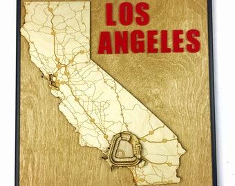 Stadium State Shape - California, Los Angeles (Angels Stadium of Anaheim)