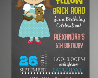 HOLIDAY SPECIAL Wizard Of Oz Invitation / Wizard Of Oz Birthday Invitation / Oz Invitation / Dorothy Birthday invitation - Instant Download
