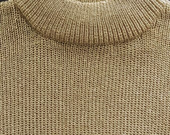 Gold Lurex Sweater // Vintage Lurex