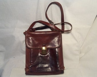 Vintage Brown Leather Men's Handbad - Shoulder Bag - Messenger Bag