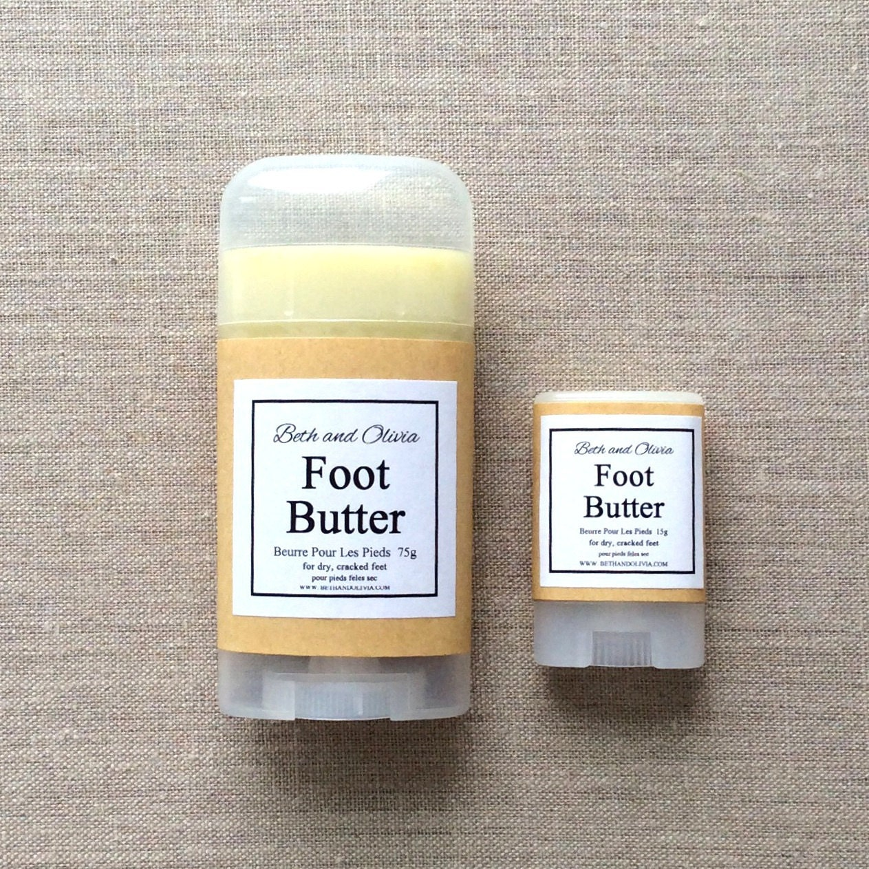 Foot butter 75g, natural foot balm, peppermint foot lotion, foot soak, lotion for feet, Foot salve, treatment for feet