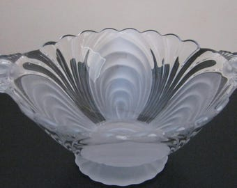 Cambridge Glass CAPRICE Alpine Mayonnaise Bowl Footed closed handles