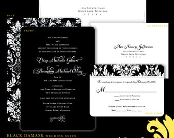 BLACK DAMASK . wedding suite