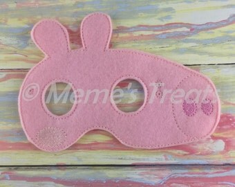 Deluxe Felt Mask -- Kids Mask – Inspired by Peppa Pig -- Costume – Dress-Up -- Halloween -- Pretend Play -- Party Favor -- Princess