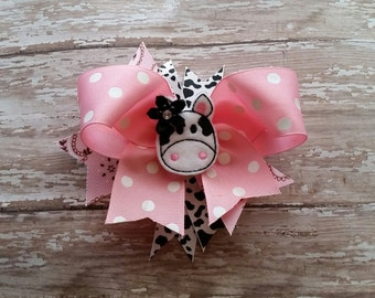 Cow bow, Farm girl Holstein cow bow