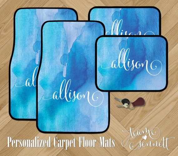 Watercolor Wash Personalized Car Floor Mats Painted Pattern