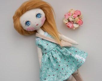 Api's Dolls, OOAK doll, Handmade doll, Cloth doll, Art doll, Small doll, 26 cm doll