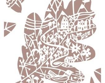Little Oak Leaf - Little Leaf Series - Woodland - Art Print - Home decor - Nature
