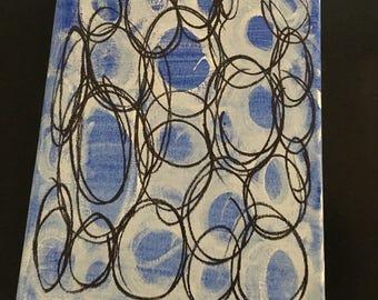 Circles, blue and black