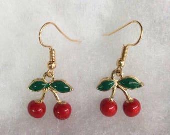 Last pair! Cherry dangle earrings