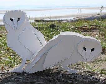 Free Shipping!, Steel Owl Sculpture, Garden Owl, Full Size, Snowy, Barn, Bird Figurine, Ornament, Statue, Metal Art, Gnarly Owl, Rusty Metal