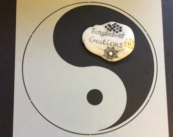 A4 Yin and yang reuseable stencil