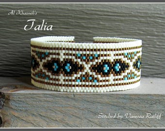"Peyote Bracelet Pattern ""TALIA"""