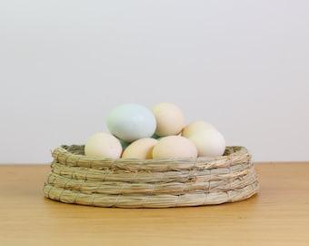 Rustic straw braided egg holder/Pigeon nest/pets straw nest/chicken nest/hatching breeding nest/Guinea pig nest bedding