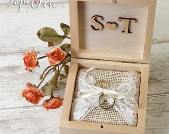 A Little Wedding Ring Box With Satin Ribbon