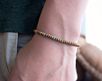 Men's 4mm Beaded Bracelet / Men's 4mm Bracelet