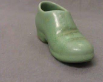 Green Slipper Bootee Shoe