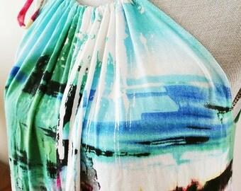 Multi-Colour Jersey Maxi Dress, Summer dress, for her, women's fashion, maxi dress, long maxi dress, beach look , summer trend, summer dress