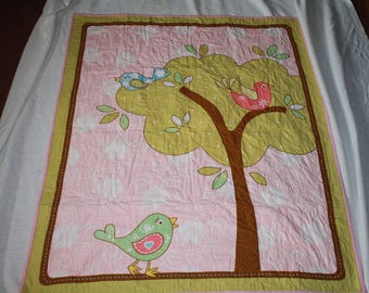 Birds in a Tree Baby Quilt