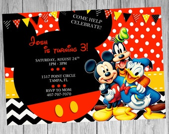 Mickey Mouse and Friends Invitation