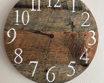 """Rustic Barn Wood Clock - 16"""""""