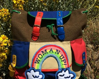 Woman Up Color Block Back Pack