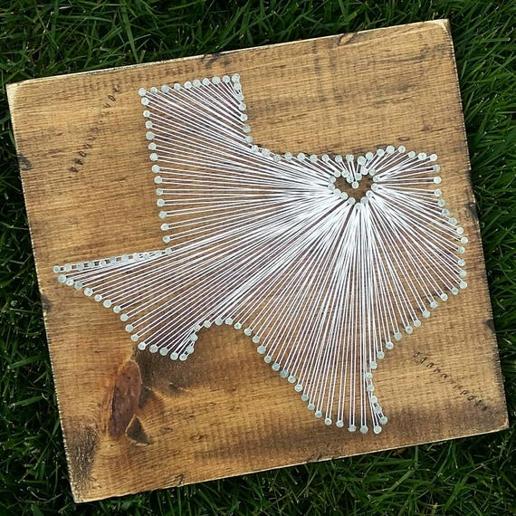Texas string art state string art texas nail art rustic like this item prinsesfo Image collections