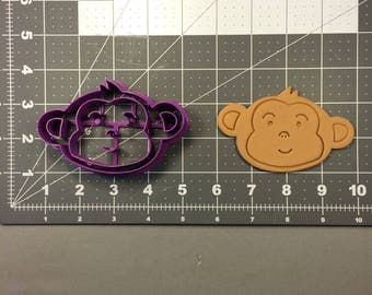 Baby Monkey Face 101 Cookie Cutter