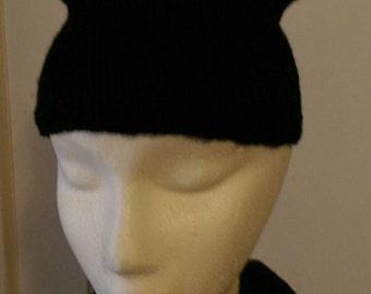 Black Kitty Cat Ear Hat!