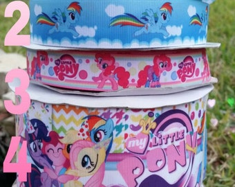My little pony ribbon,  my little pony resins, MLP ribbon, ribbons, crafts