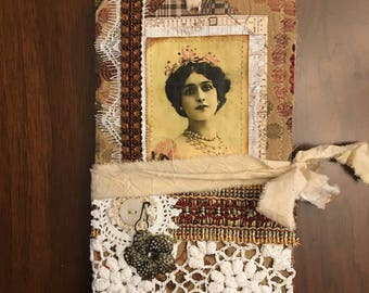 Golden Lady Fabric Cover Journal