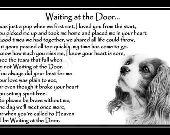 "Blenheim Cavalier King Charles Spaniel Pet Dog Photo Memorial Gift Mounted Poem 9"" x 6"" Print - unframed"