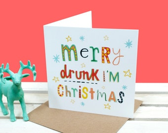 Funny Christmas Card Merry Christmas You Slay Card for Her