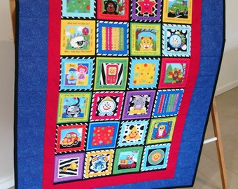 Childs Cot Quilt, Play Mat, Wall Hanger, Throw, Baby Blanket, Baby Quilt  *SHIPPING INCLUDED