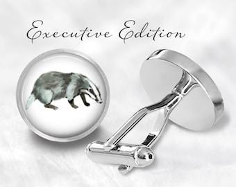 Badger Cufflinks - Honey Badger Cufflinks - Honeybadger - Badger Wedding - Badger Gift (Pair) Lifetime Guarantee (S0282)