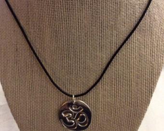 Ohm fine silver pendant