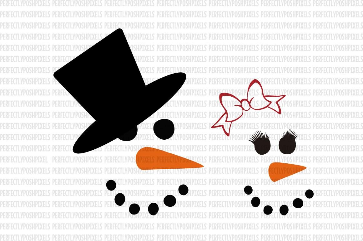 svg snowman faces svg christmas svg template stencil cut files