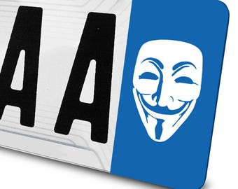 Sticker V for Vendetta for license plates