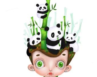 Panda Dream Art Print
