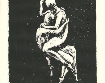 Respite (Original Linocut)
