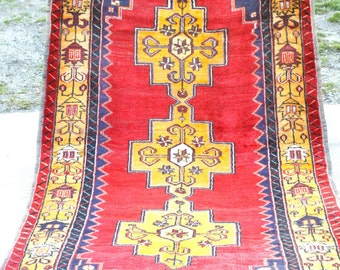 Antique Henna Dyes Cr1900-1939s Wool Dowry Tribal Area Pile Rug-4'3''x8'10''