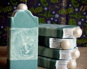 Frosted Pine handcrafted Vegan soap with Kaolin Clay
